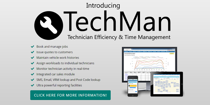Introducing TechMan Technician Efficiency and Time Management - Click here for more!